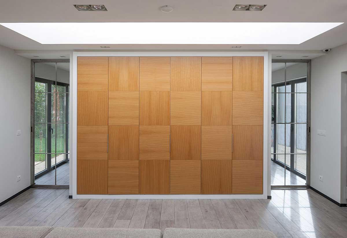 Dettaglio sala con porte scorrevoli mekkit3D